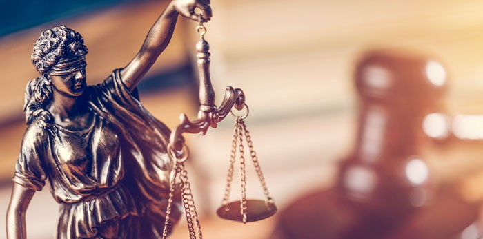 Photo of lady justice and gavel